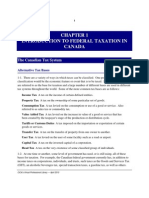 Chapter 01 - Introduction to Federal Taxation in Canada