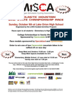 MiSCA Oct 9 LOHS Race Flier