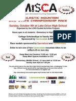 MiSCA Oct 9 LOHS Race Flier
