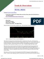 Stock Market Trends & Observations 08/23/11