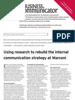 Measurement and Crisis Marconi