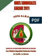 S.I.B.F. Elecciones Sindicales Geacam 2011