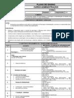 Plano de Ensino Psicologia - Adm 2011.2
