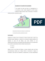 Análisis en planos inclinados estatica U6