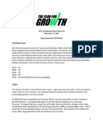 Club for Growth White Paper on Rick Perry