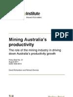 Mining Australias Productivity