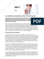 20110513 - Le Généraliste - Les médecins normands au chevet de leurs pairs
