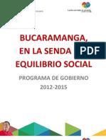 PROGRAMA DE GOBIERNO 2012