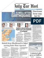 The Daily Tar Heel for August 24, 2011