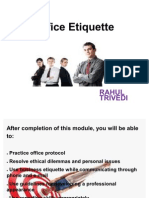 Office Etiquettes