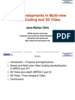 MPEG Developments in Multi-View Video Coding and 3D Video