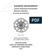 Economic Development Menyongsong Jaman Keemasan Pertumbuhan Ekonomi Indonesia