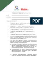 WADSR - Sample Sponsorship Agreement