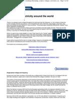 Elektricity Worldwide, Voltage, Plugs