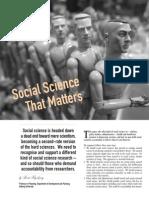 Social Sceince That Matters
