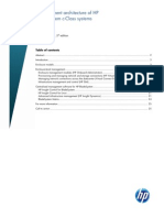 Managing the HP Blade System C-Class Technology Brief (2010)