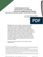 Prácticas de continuidad de los vñinculos parentales en las familias transnacionales colombianas en España