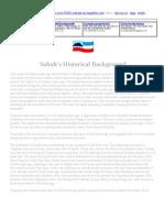 Sabah's Historical Background