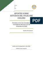 Apuntes Sobre Estudios Del Folklore Chileno