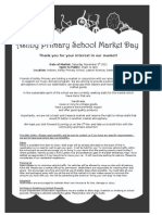 Ashby Primary School Market Day Stall Holder Packet
