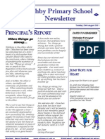 Ashby Primary School Newsletter August 23, 2011