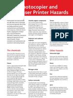 Printers and Ozone Hazards
