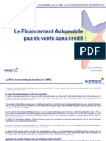 Financement Automobile 2010