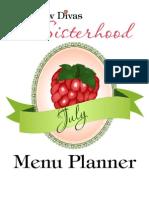 July Menu Planner