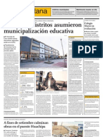 Solo cinco distritos asumieron municipalización educativa