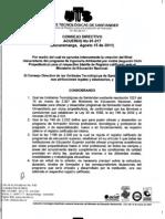 Acuerdo Ing. Ambiental