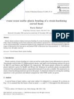 Plane Strain Elastic-plastic Bending of Strain Hardening Curved Beam