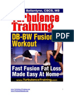 8-Week Dumbbell Body Weight Fusion Fat Loss Program