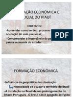 FORMAÇÃO ECONÔMICA E SOCIAL DO PIAUÍ