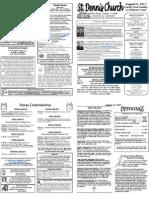 Aug 21 Bulletin