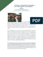 EL CONFLICO SOCIAL Y ARMADO EN COLOMBIA Y LA APUESTA MILITAR DE LA OLIGARQUÍA