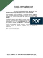 Critérios e Intruções FINA