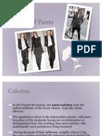 History of Pants