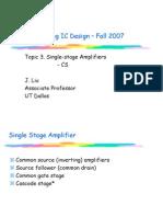 3.Single Stage Amp I