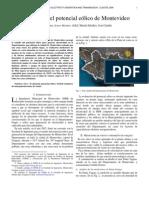 Evaluacion Del Potencial Eolico de Monte Video.