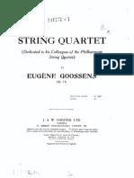 Goossens - String Quartet, Op. 14 (Score)