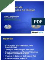 Evaluacion de Arquitecturas en Cluster