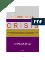 Elogio de La Crisis de Leopoldo Kohon