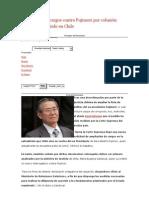 Ampliación de cargos contra Fujimori por colusión desleal fue recibido en Chile