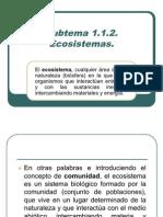 1.1.2. Ecosistemas.