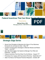 Federal Incentives That Can Show You the Money & Increase Cash Flow