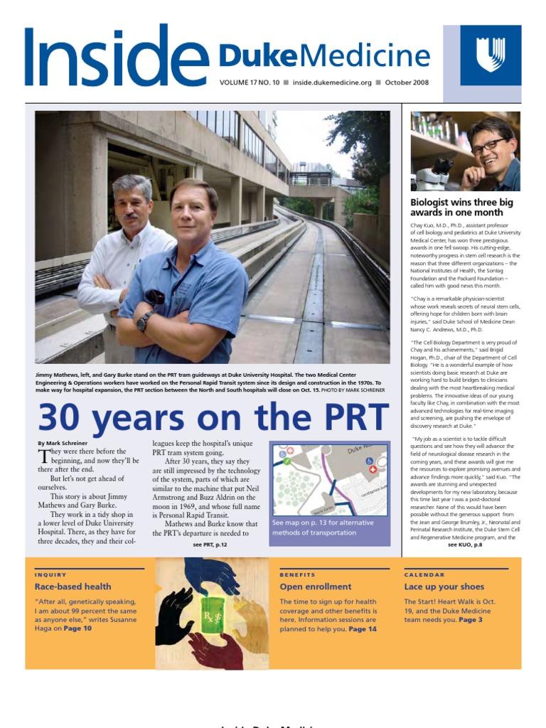 Inside Duke Medicine - October 2008 (Vol  17 No  10) | Duke