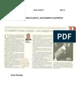 Artigo Opinião Publico - A VERDADE É COMO O AZEITE - 24-8-11