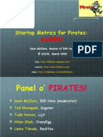 Startup Marketing Metrics for Pirates Aarrr