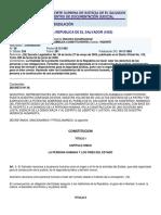 Constitucion de La Republica de El Salvador (1983)