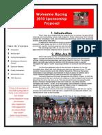 2010 Wolverine Racing Sponsorship Proposal